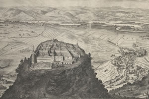 Matthäus Küsel: Panorama with Danube and the Göttweig Abbey, 1668 (detail)